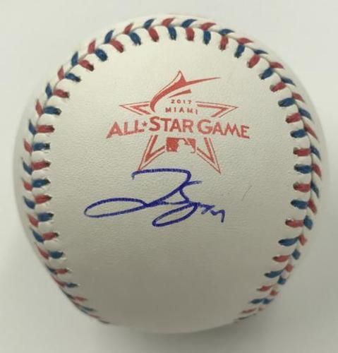 Photo of George Springer Autographed 2017 All-Star Game Logo Baseball