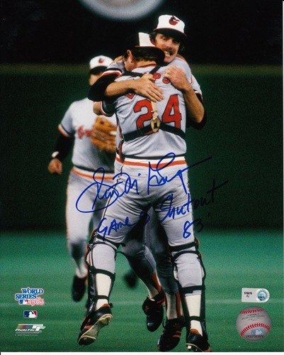 "Photo of Scott McGregor ""Game 5 Shutout '83"" Autographed 8x10"
