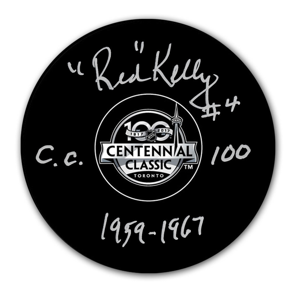 Red Kelly 2017 Centennial Classic Autographed Puck Toronto Maple Leafs
