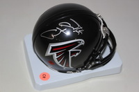FALCONS - ANTONE SMITH SIGNED FALCONS MINI HELMET