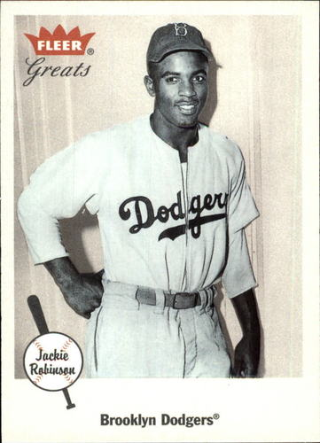 Photo of 2002 Greats of the Game #26 Jackie Robinson -- Brooklyn Dodgers