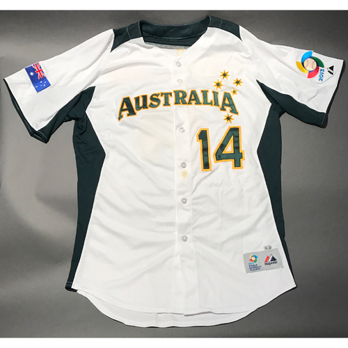 Photo of 2013 World Baseball Classic Jersey - Australia Jersey, Chris Snelling #14