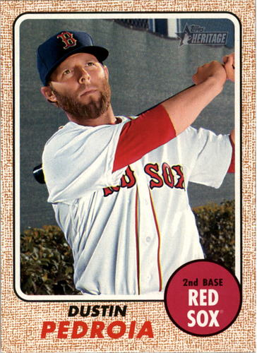 Photo of 2017 Topps Heritage #454 Dustin Pedroia  -- Red Sox post-season