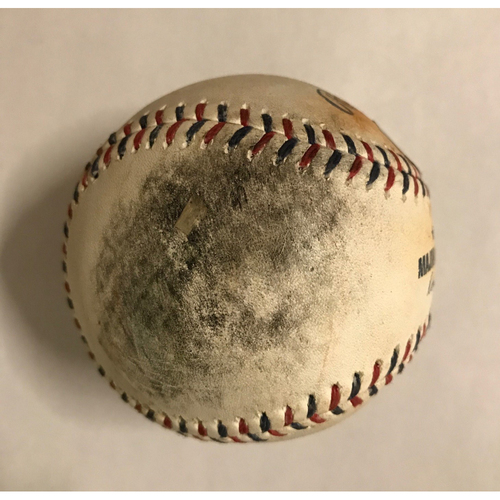 Photo of Yuli Gurriel Game-Used Hit Double Baseball - July 4, 2017 - Top 2