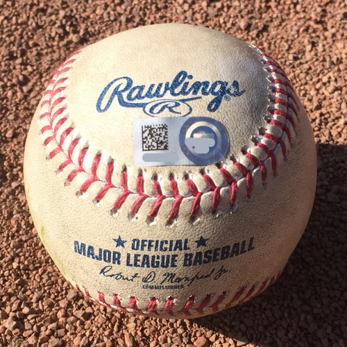 Photo of San Francisco Giants - 2017 Game-Used Baseball - October 1st Final Game - Denard Span Single (also Buster Posey foul ball)