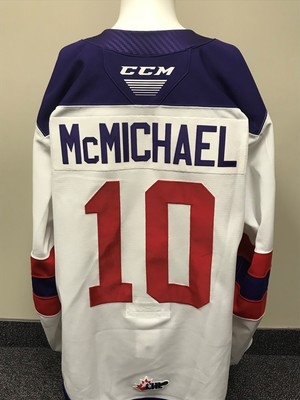 Connor McMichael 2019 Sherwin-Williams CHL/NHL Top Prospects Game Issued Jersey