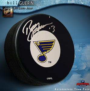 BILL GUERIN Signed St. Louis Blues Puck