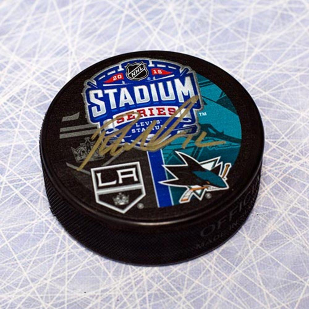 Patrick Marleau San Jose Sharks Autographed 2015 Stadium Series Puck