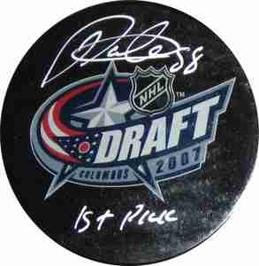 Patrick Kane -  Signed 2007 Draft Pick Puck - Inscribed