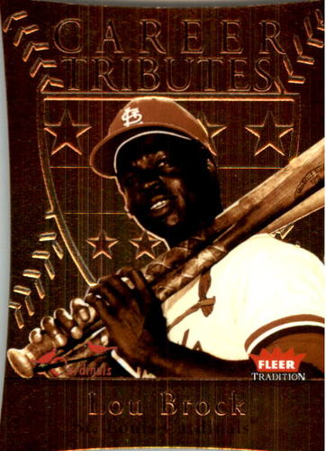 Photo of 2004 Fleer Tradition Career Tributes Die Cut #8 Lou Brock/79