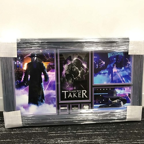 """Photo of Undertaker """"Thank You Taker"""" WrestleMania 33 Commemorative Plaque (#1 of 500)"""