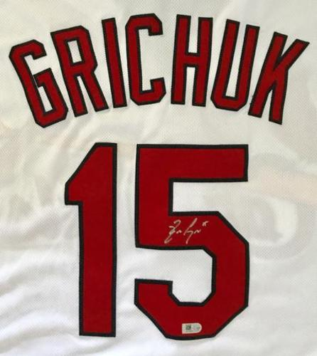 Photo of Randal Grichuk Autographed Cardinals Jersey