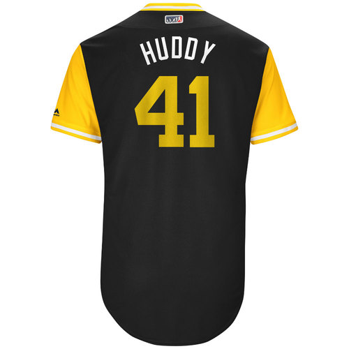 """Photo of Daniel """"Huddy"""" Hudson Pittsburgh Pirates Game-Used Players Weekend Jersey"""