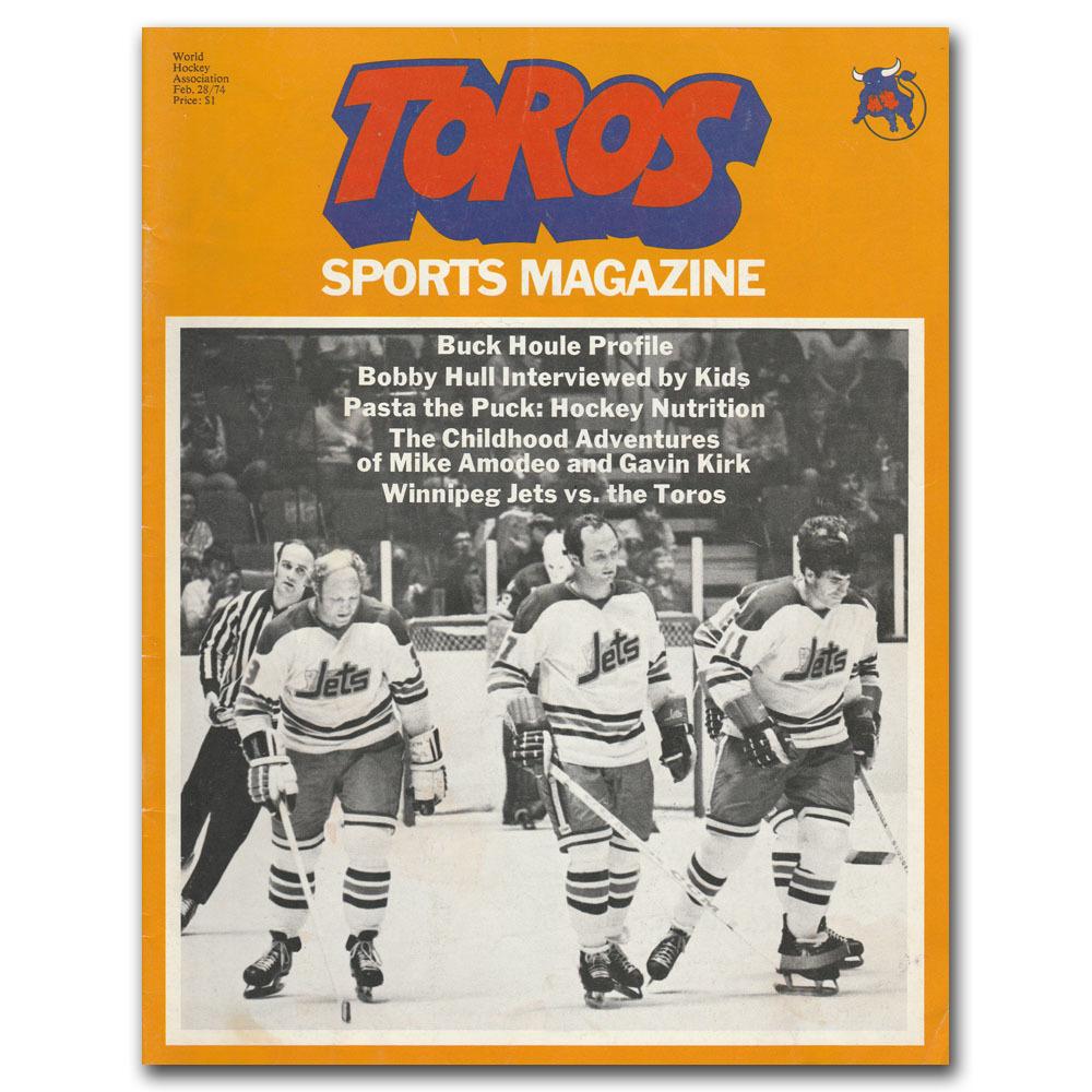 Toronto Toros (WHA) Program - February 28, 1974