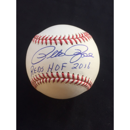 "Photo of Pete Rose ""Reds HOF 2016"" Autographed Baseball - A Reds Hall of Fame Exclusive"