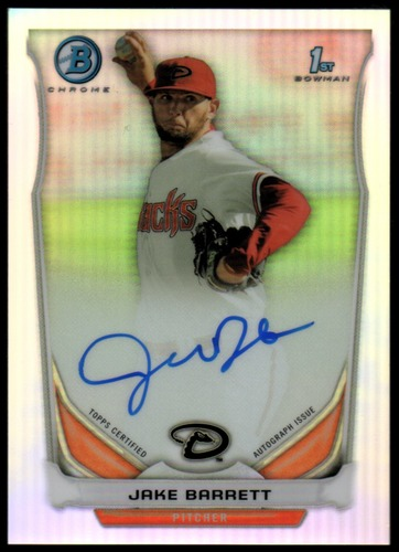 Photo of 2014 Bowman Chrome Prospect Autographs Refractors #BCAPJB Jake Barrett