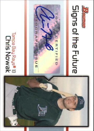 Photo of 2008 Bowman Signs of the Future #CN Chris Nowak