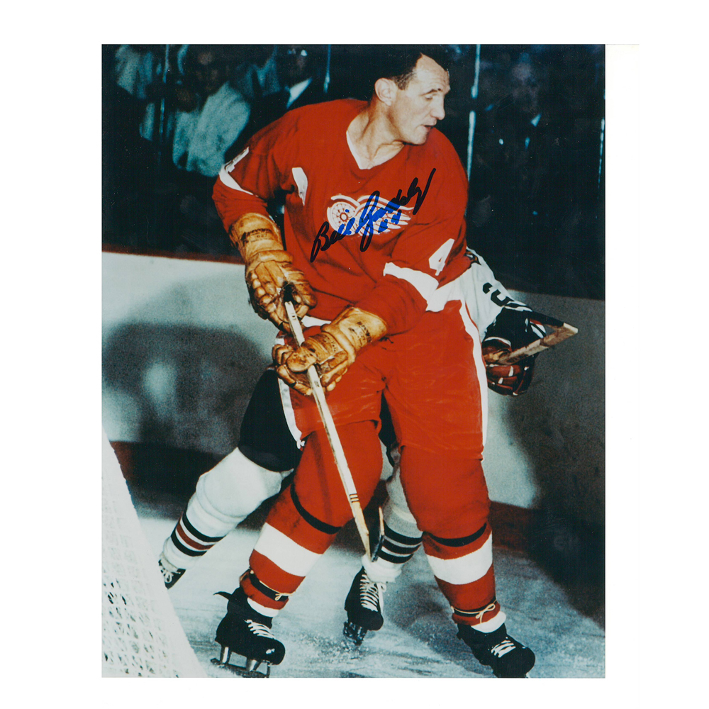 BILL GADSBY Signed Detroit Red Wings Vintage 8 X 10 Photo - 70114