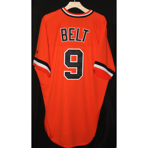 Photo of #9 Brandon Belt's Game-Used Turn Back the Clock Retro Jersey -  All Proceeds Benefit the Pulse Victim Fund