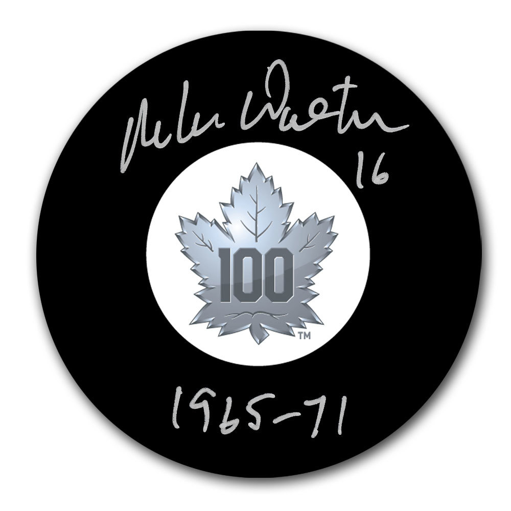 Mike Walton Toronto Maple Leafs 100th Anniversary Autographed Puck
