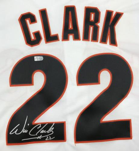 Photo of Will Clark Autographed Giants Cooperstown Collection Jersey