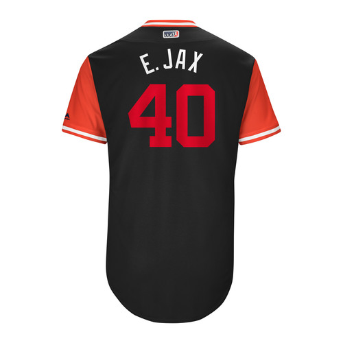 "Photo of Edwin ""E. Jax"" Jackson Washington Nationals Game-Used Players Weekend Jersey"