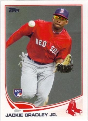 Photo of 2013 Topps #382 Jackie Bradley Jr. Rookie Card -- Red Sox post-season
