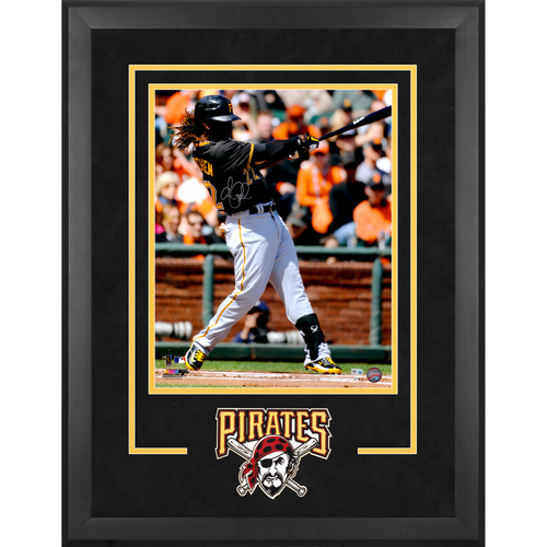 "Photo of Andrew McCutchen Pittsburgh Pirates Deluxe Framed Autographed 16"" x 20"" Black Hitting Photograph"