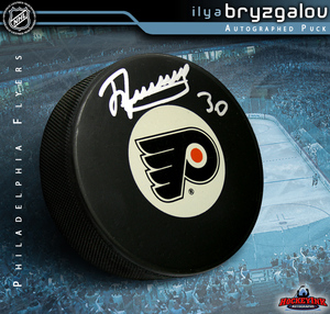 ILYA BRYZGALOV Signed Philadelphia Flyers Puck