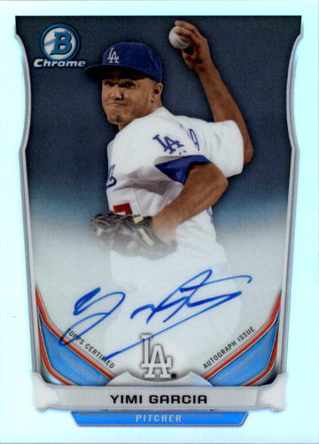 Photo of 2014 Bowman Chrome Prospect Autographs Refractors #BCAPYG Yimi Garcia