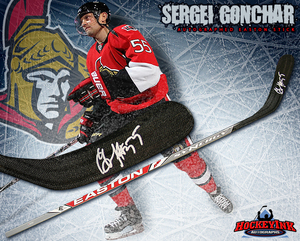 SERGEI GONCHAR Signed Easton Stick - Ottawa Senators