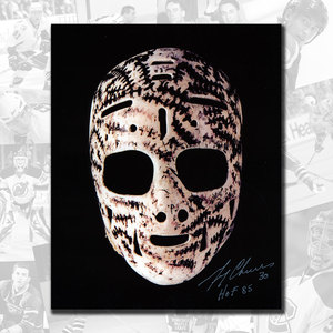 Gerry Cheevers Boston Bruins Mask Autographed 11x14