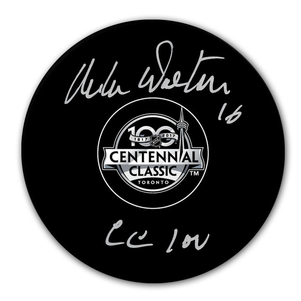 Mike Walton 2017 Centennial Classic Autographed Puck Toronto Maple Leafs