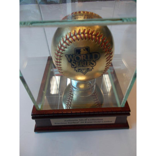 Photo of 2010 World Series 24 Karat Gold Leather Baseball