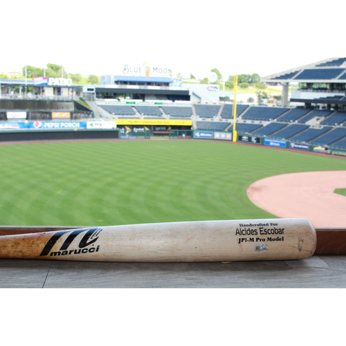 Photo of Game-Used Alcides Escobar Broken Bat (5/24/17 KC @ NYY)