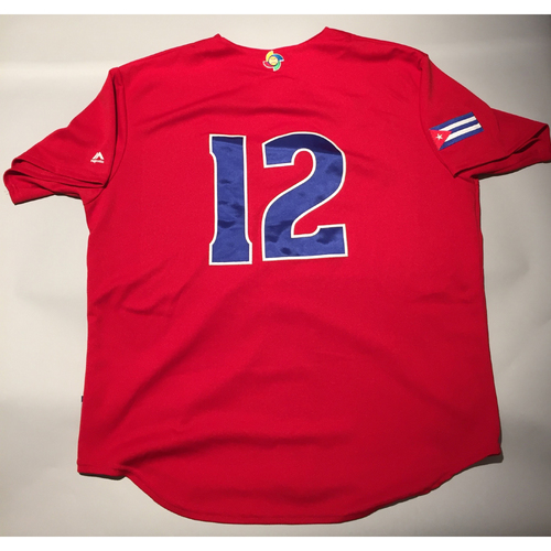 2017 WBC: Cuba Game-Used Batting Practice Jersey, #12
