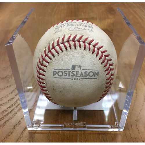 NLDS Game 1 Game-Used Baseball: Kyle Hendricks Strikes Out Trea Turner