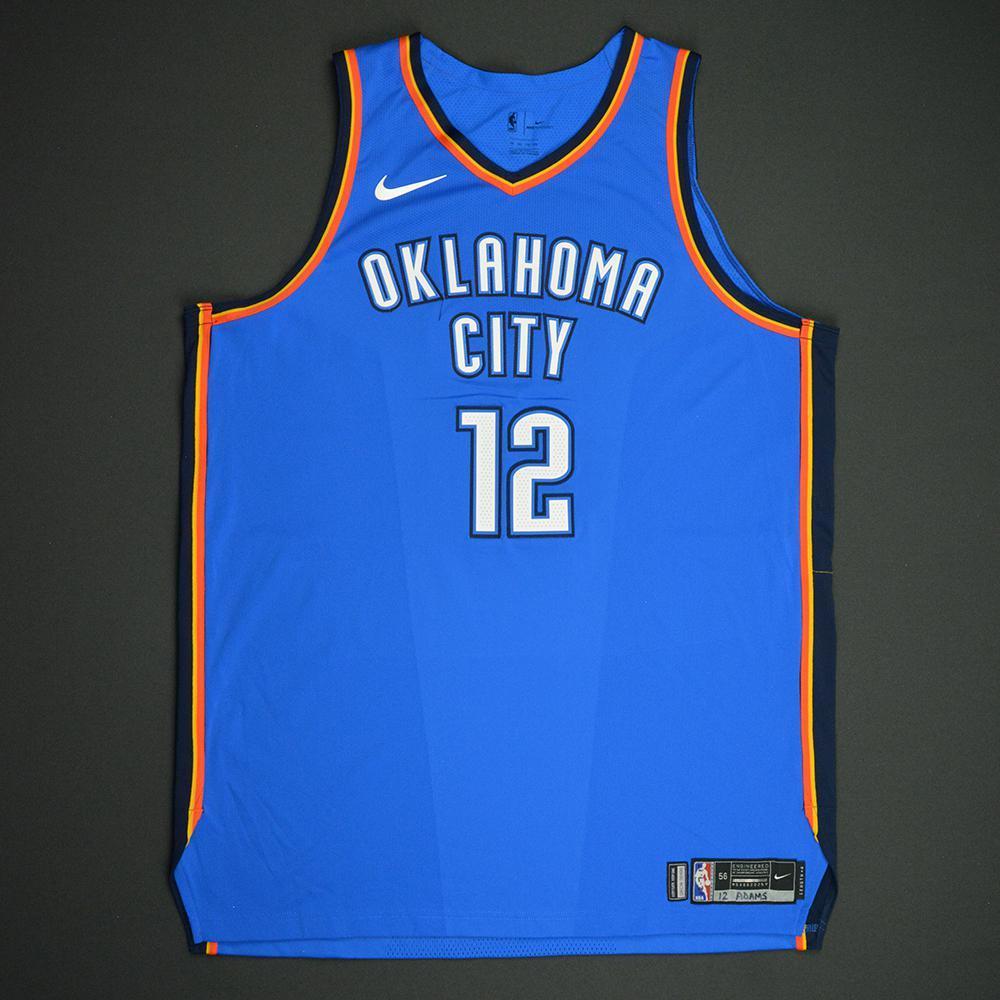 Steven Adams - Oklahoma City Thunder - NBA Mexico City Games 2017 Game-Worn Jersey - Double-Double