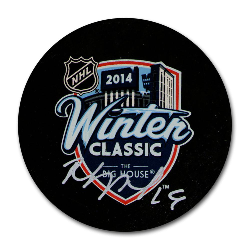 Joffrey Lupul Autographed 2014 NHL Winter Classic Souvenir Puck (Toronto Maple Leafs)