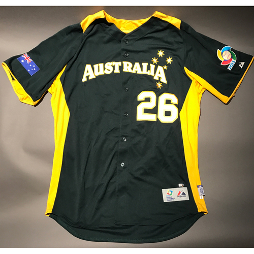 Photo of 2013 World Baseball Classic Jersey - Australia Jersey, Justin Huber #26