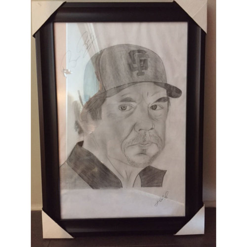 Giants End of Year Auction: Bruce Bochy Autographed Sketch by Jose Alguacil