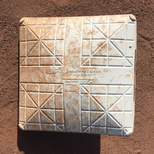 Photo of San Francisco Giants - 2017 Game-Used Base - September 30th - Matt Cain Final Game - 1st base innings 1-3