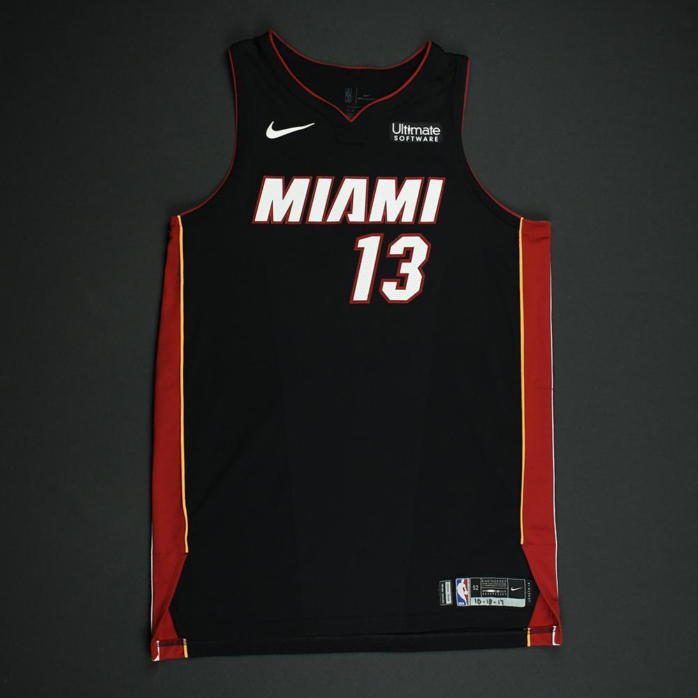 Bam Adebayo - Miami Heat - Game-Worn Rookie Debut Jersey (Opening Night) - 2017-18 Season