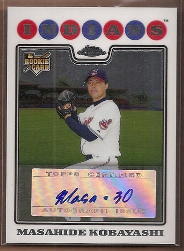 Photo of 2008 Topps Chrome #233 Masahide Kobayashi AU RC