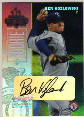 Photo of 2003 Donruss Champions Autographs #255 Ben Kozlowski/400