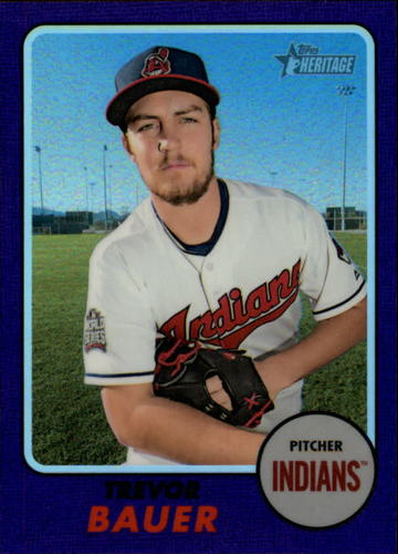 Photo of 2017 Topps Heritage Chrome Purple Refractors #THC715 Trevor Bauer