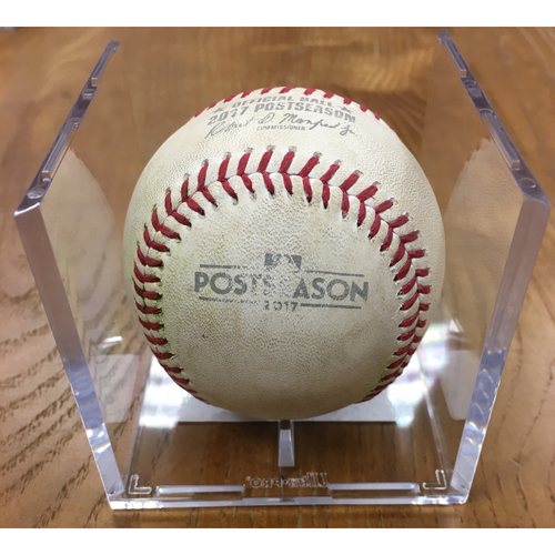 Photo of NLDS Game 1 Game-Used Baseball: Stephen Strasburg Strikes Out Kyle Schwarber, Addison Russell Single