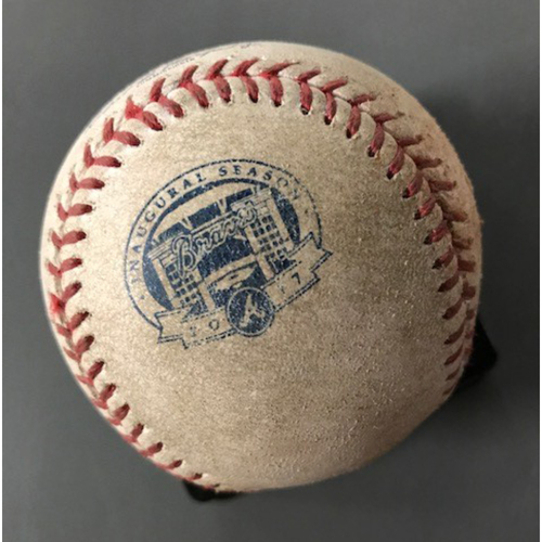 Photo of Daniel Murphy Game-Used Hit Single Baseball - May 20, 2017