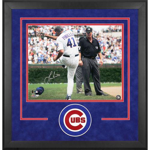 "Photo of Lou Piniella Chicago Cubs Framed Autographed 16"" x 20"" Tirade Photograph"
