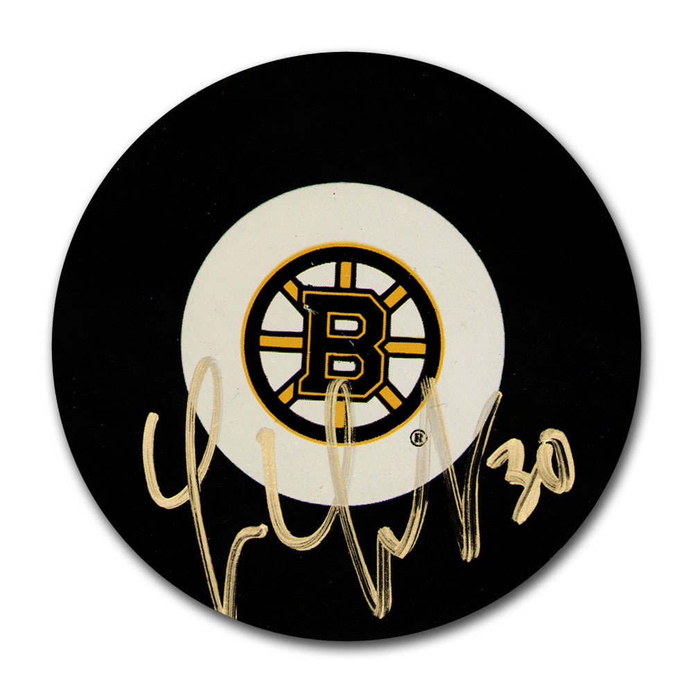 Tim Thomas Autographed Boston Bruins Puck